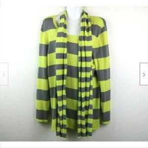 Cable & Gauge Striped Sweater Scarf